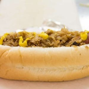 Jaworski Meats Homeade Sausage Sandwich