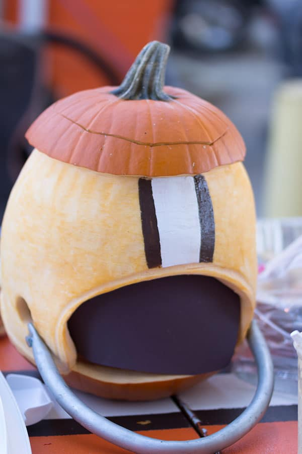 Pumpkin Helmet  Jaworski Meats Social Events Cleveland Browns Tailgate